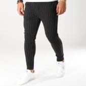 /achat-pantalons-carreaux/john-h-pantalon-raye-2267-noir-blanc-160484.html