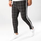 /achat-pantalons-carreaux/john-h-pantalon-a-carreaux-avec-bandes-2281-noir-blanc-camel-160489.html