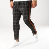 /achat-pantalons-carreaux/john-h-pantalon-a-carreaux-avec-bandes-2281-noir-marron-160490.html