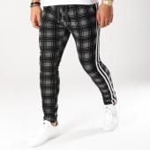 /achat-pantalons-carreaux/vip-clothing-pantalon-carreaux-velours-avec-bandes-5053-gris-anthracite-noir-160439.html