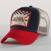 /achat-trucker/von-dutch-casquette-trucker-square-16-bleu-marine-beige-rouge-160487.html