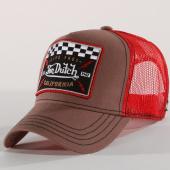 /achat-trucker/von-dutch-casquette-trucker-square-17-taupe-rouge-160488.html