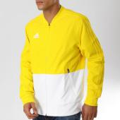 /achat-vestes/adidas-veste-zippee-con18-pre-jacket-cf4310-jaune-blanc-160716.html