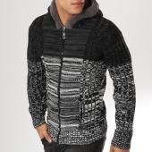/achat-cardigans-gilets/classic-series-gilet-zippe-capuche-5819-noir-gris-chine-160673.html