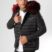 /achat-doudounes/comme-des-loups-doudoune-fourrure-f1865-noir-rouge-160632.html