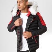 /achat-doudounes/comme-des-loups-doudoune-fourrure-f1865-noir-rouge-blanc-160641.html