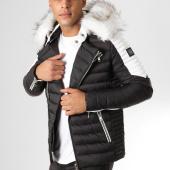 /achat-doudounes/comme-des-loups-doudoune-fourrure-f1865-noir-blanc-160643.html