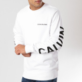 /achat-sweats-col-rond-crewneck/calvin-klein-sweat-crewneck-institutional-rubber-box-0334-blanc-160813.html