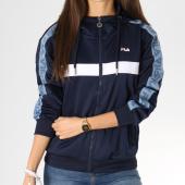 https://www.laboutiqueofficielle.com/achat-sweats-zippes-capuche/sweat-zippe-capuche-avec-bandes-femme-teela-682322-bleu-marine-bleu-clair-blanc-160783.html