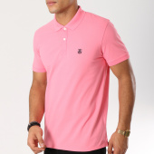 /achat-polos-manches-courtes/selected-polo-manches-courtes-haro-embroidery-rose-160799.html