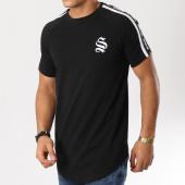 /achat-t-shirts-longs-oversize/sinners-attire-tee-shirt-oversize-bandes-brodees-tape-panel-noir-blanc-160789.html