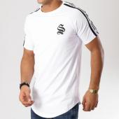 /achat-t-shirts-longs-oversize/sinners-attire-tee-shirt-oversize-bandes-brodees-tape-panel-blanc-noir-160792.html