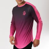 /achat-t-shirts-manches-longues/sinners-attire-tee-shirt-manches-longues-oversize-dip-dye-noir-degrade-rose-160796.html
