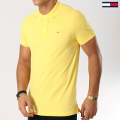 /achat-polos-manches-courtes/tommy-hilfiger-jeans-polo-manches-courtes-essential-5232-jaune-160843.html