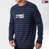 /achat-pulls/tommy-hilfiger-jeans-pull-corps-logo-stripe-5482-bleu-marine-160845.html