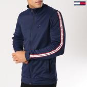 /achat-vestes/tommy-hilfiger-jeans-veste-zippee-bandes-brodees-track-5489-bleu-marine-160864.html