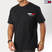 /achat-t-shirts-poche/tommy-hilfiger-jeans-tee-shirt-poche-back-stripe-5560-noir-160866.html