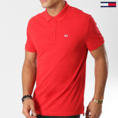 /achat-polos-manches-courtes/tommy-hilfiger-jeans-polo-manches-courtes-tommy-classics-5508-rouge-160870.html