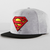 /achat-snapbacks/dc-comics-casquette-snapback-superman-gris-chine-noir-161025.html