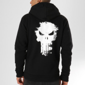 /achat-sweats-zippes-capuche/punisher-sweat-zippe-capuche-logo-noir-160974.html