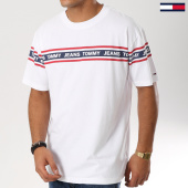 /achat-t-shirts/tommy-hilfiger-jeans-tee-shirt-avec-bandes-essential-tape-5559-blanc-160998.html