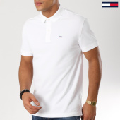/achat-polos-manches-courtes/tommy-hilfiger-jeans-polo-manches-courtes-tommy-classics-5508-blanc-161007.html