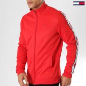 /achat-vestes/tommy-hilfiger-jeans-veste-zippee-bandes-brodees-track-5489-rouge-161008.html