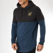 /achat-sweats-capuche/siksilk-sweat-capuche-oversize-zonal-14485-bleu-marine-noir-161137.html
