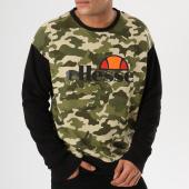 /achat-sweats-col-rond-crewneck/ellesse-sweat-crewneck-1032n-vert-kaki-camouflage-noir-161396.html