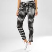 /achat-pantalons-carreaux/girls-only-pantalon-raye-femme-1163-noir-blanc-161479.html