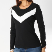 /achat-t-shirts-manches-longues/girls-only-tee-shirt-manches-longues-femme-fourrure-18141-noir-blanc-161480.html