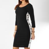 /achat-robes/girls-only-robe-femme-avec-bandes-18151-noir-blanc-161484.html