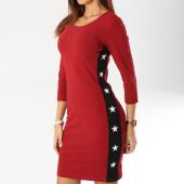 /achat-robes/girls-only-robe-femme-avec-bandes-18151-bordeaux-noir-161491.html