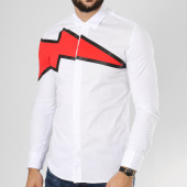 /achat-chemises-manches-longues/ikao-chemise-manches-longues-f264-blanc-rouge-161279.html