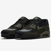 /achat-baskets-basses/nike-basket-air-max-90-leather-302519-014-black-medium-olive-161335.html
