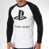 /achat-t-shirts-manches-longues/playstation-tee-shirt-manches-longues-logo-japaneese-blanc-noir-161432.html