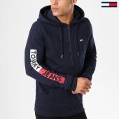 /achat-sweats-zippes-capuche/tommy-hilfiger-jeans-sweat-zippe-capuche-graphic-5541-bleu-marine-161409.html