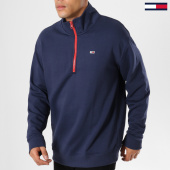 /achat-sweats-col-zippe/tommy-hilfiger-jeans-sweat-col-zippe-contrast-5488-bleu-marine-161460.html