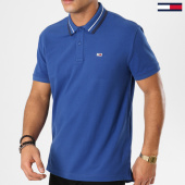 /achat-polos-manches-courtes/tommy-hilfiger-jeans-polo-manches-courtes-tommy-classics-5509-bleu-clair-161466.html