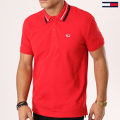 /achat-polos-manches-courtes/tommy-hilfiger-jeans-polo-manches-courtes-tommy-classics-5509-rouge-161469.html