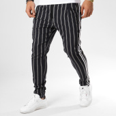 /achat-pantalons-carreaux/uniplay-pantalon-raye-avec-bandes-t3293-noir-blanc-161258.html