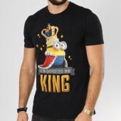 /achat-t-shirts/les-minions-tee-shirt-good-to-be-king-noir-161528.html