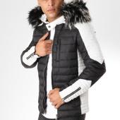 /achat-doudounes/john-h-doudoune-fourrure-h-9903-noir-blanc-161589.html