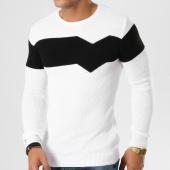 /achat-pulls/john-h-pull-jh-002-blanc-noir-161645.html