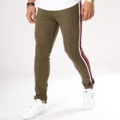 /achat-jeans/john-h-jean-slim-bandes-brodees-a298-vert-kaki-161683.html