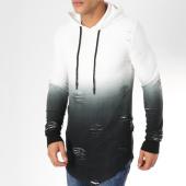 /achat-sweats-capuche/john-h-sweat-capuche-oversize-s09193-noir-blanc-degrade-161705.html