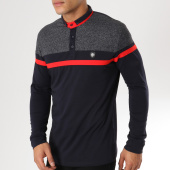 /achat-t-shirts-manches-longues/classic-series-polo-manches-longues-8513-bleu-marine-gris-anthracite-chine-161796.html