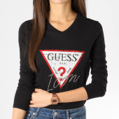 /achat-t-shirts-manches-longues/guess-tee-shirt-manches-longues-femme-w91i58-k46d0-noir-161829.html
