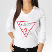 /achat-t-shirts-manches-longues/guess-tee-shirt-manches-longues-femme-w91i58-k46d0-blanc-161830.html