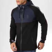 /achat-sweats-zippes-capuche/gym-king-sweat-zippe-capuche-oversize-lombardi-noir-bleu-marine-gris-161800.html